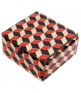 Boîte à bijoux damier rouge et noir