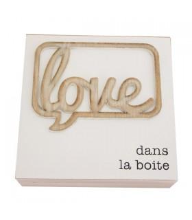 Boîte à bijoux en bois Love