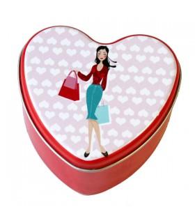 Petite Boîte métal cœur Shopping