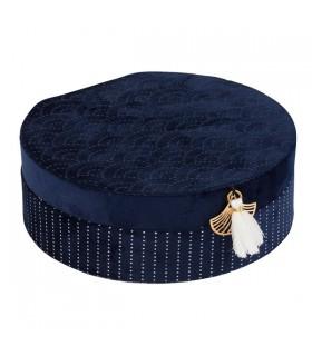 Boîte à Bijoux Japan Bleue Ronde