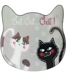 Planche en verre Chat Chat Chat