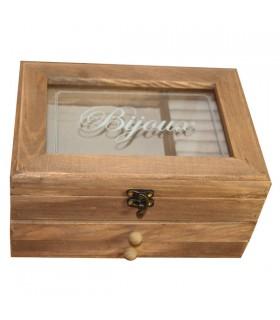 Boîte à bijoux en bois vintage