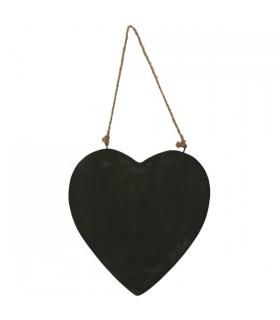 Plaque de Porte Cœur Noir