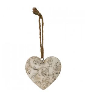 Cœur décoratif à Suspendre Blanc