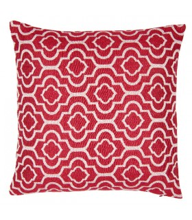 Coussin Jacquard Rouge