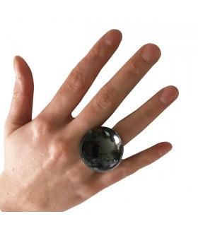 Bague Boule Hématite