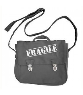 Besace cartable fragile