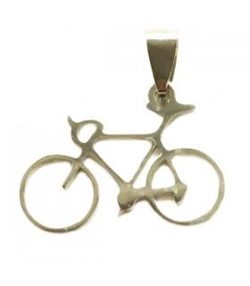 Pendentif Vélo Argenté