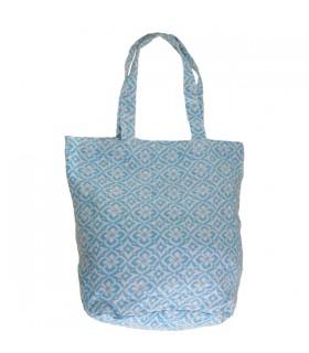 Sac Shopping Indien Bleu Clair