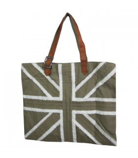 Grand Sac Cabas Kaki Union Jack