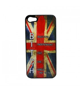 Coque iPhone 5 Union Jack Bitch