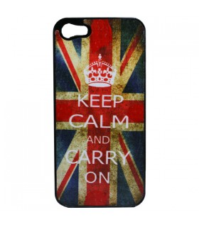 Coque iPhone 5 Union Jack Keep Calm