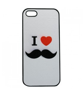 Coque iPhone 5 I Love Moustaches