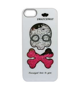 Coque iPhone 5 Tête de Mort blanche