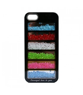 Coque iPhone 5 strass multicolores