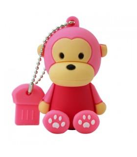 Clé USB petit singe rose