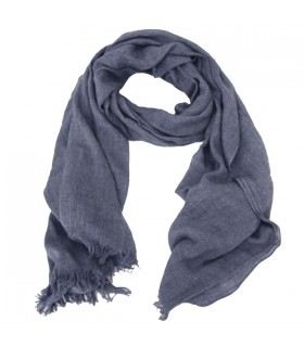 Écharpe unie bleu gris