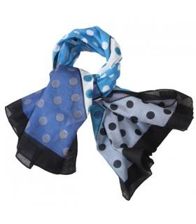 Foulard de coton à pois bleus