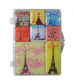 Set de 8 magnets Paris