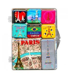 Set de 8 magnets Paris Glamour