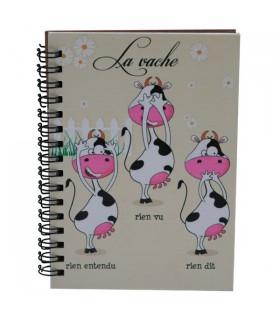 Carnet à spirale 3 vaches