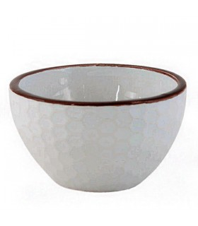 Bol en Céramique Blanc Nid d'Abeilles
