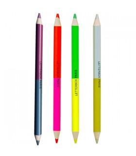 Gros crayon de couleur double