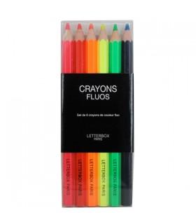 Pochette de gros crayons fluorescents