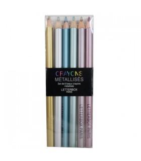 Pochette de crayons de couleur métallisés