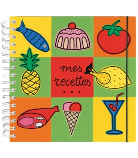 Cahier de recettes colorées