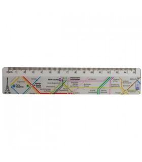 Règle plate plan de métro Paris blanc