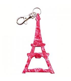 Porte-clés paris décapsuleur rose