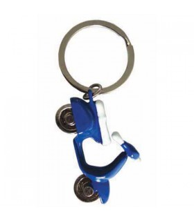Porte-clés scooter bleu