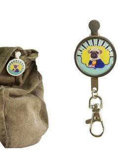 Porte-clés clip chien