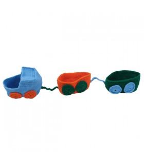 Vide- Poche Petit Train  Bleu-orange-vert