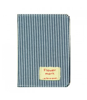 Porte-Passeport rayé bleu et blanc