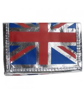 Portefeuille argenté Union Jack