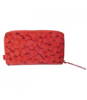 Portefeuille Compagnon fraises rouges