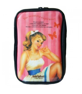 Trousse de Toilette Pin-up rose