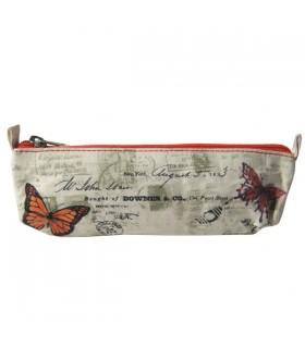 Trousse en toile de coton Papillons