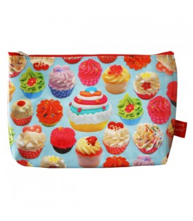Grande trousse plastifiée cupcakes gourmands