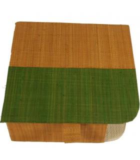 Porte-serviettes en papier couvert  Kaki et ocre 1