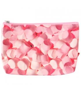 Grande trousse plastifiée bonbons roses