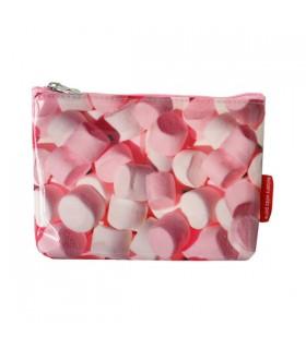 Petite trousse plastifiée bonbons roses