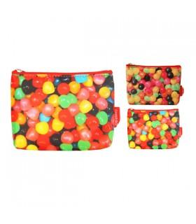 Petite trousse plastifiée bonbons