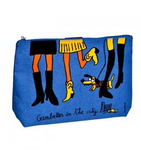 Grande Trousse de Toilette Gambettes in Blue