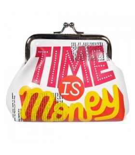 Porte-Monnaie boule Time is money