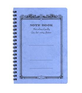Note book à spirale bleu
