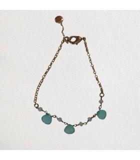 Bracelet femme poire bleu vert