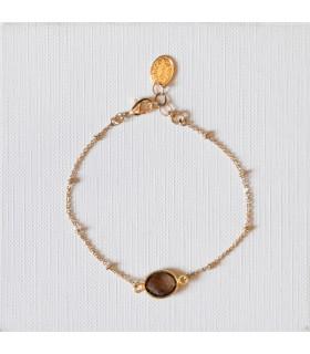 Bracelet plaqué or Labradorite